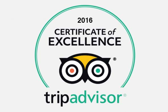 Trip Advisor certificate of excellence 2016 - The Retreat, Bhimtal